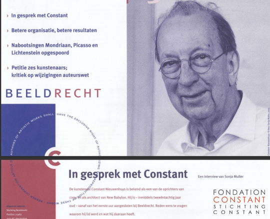 Interview with Constant for the Beeldrecht Newsletter.