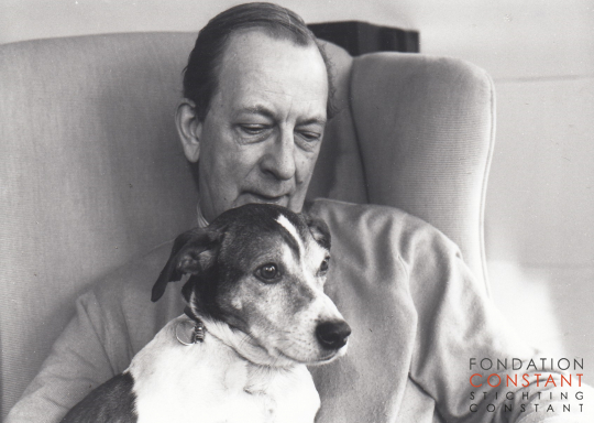 Constant and his dog, Waldo