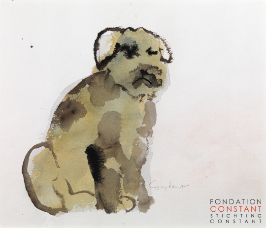Constant Nieuwenhuys-Old dog, ca 1980