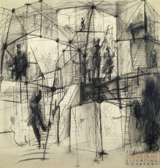 Constant Nieuwenhuys-Homo Ludens, 1966