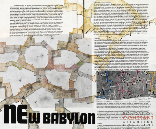 Constant Nieuwenhuys-Theorie collage New Babylon no. 1, 1974