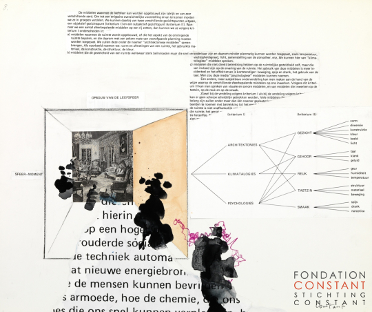 Constant Nieuwenhuys-Theorie collage New Babylon no. 8, 1974