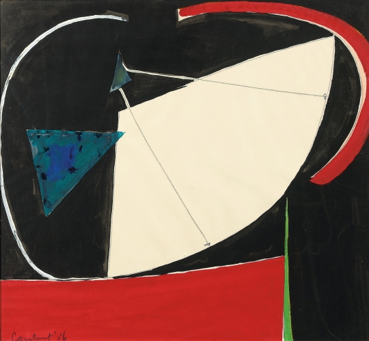Constant Nieuwenhuys-The Blue Triangle, 1956
